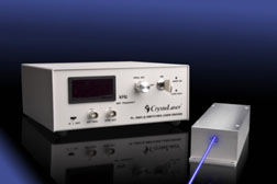 Compact Q-switched pulsed UV Blue laser